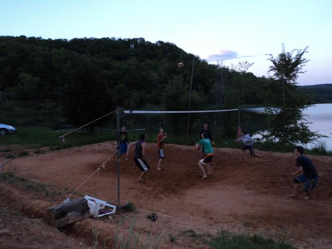 V-Ball at the Lake