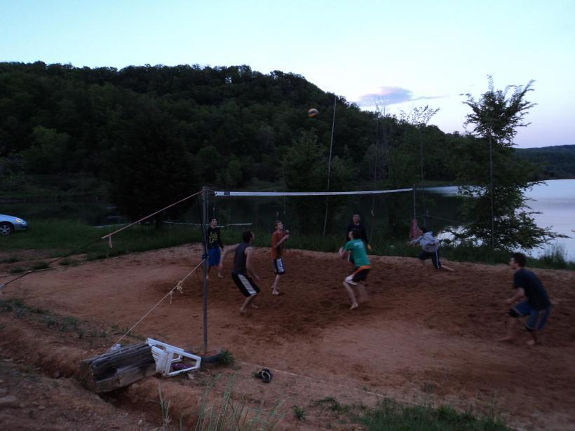 V-Ball at the Lake
